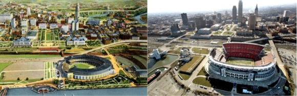 CLE Stadium Then and Now